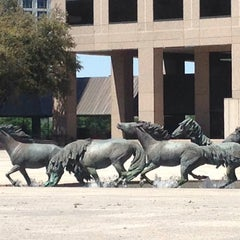 Photo taken at The Mustangs of Las Colinas by Barbara K. on 3/30/2014