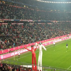 Photo taken at Allianz Arena by Jonas T. on 2/9/2013
