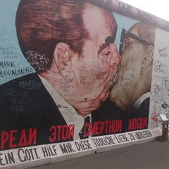 Photo taken at East Side Gallery by Victor K. on 5/11/2013