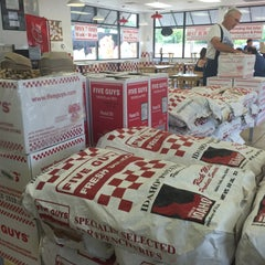 Photo taken at Five Guys by Joanna P. on 7/28/2015