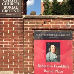 Photo taken at Benjamin Franklin's Grave by sto on 7/6/2013