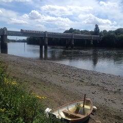 Photo taken at Kew Railway Bridge by Lida S. on 6/8/2014