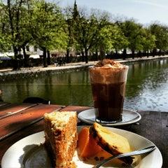 Photo taken at Den Franske Café by Yusuf L. on 4/22/2015