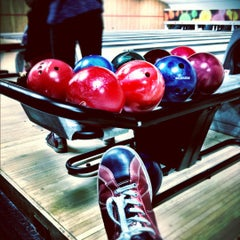 Photo taken at Astoria Bowl by Fiona P. on 9/30/2012