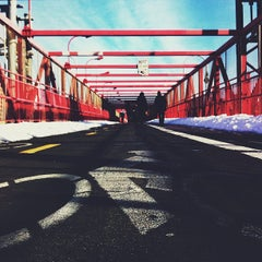Photo taken at Williamsburg Bridge by Leon R. on 2/14/2013