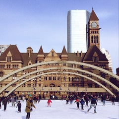 Photo taken at Nathan Phillips Square by Anil P. on 1/9/2013