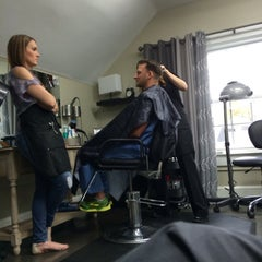 Photo taken at Augusta Place Salon by Lisa G. on 4/2/2015