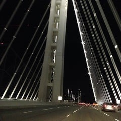 Photo taken at San Francisco-Oakland Bay Bridge by Tess C. on 10/6/2013