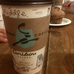 Photo taken at Caribou Coffee by Ghadeer M. on 3/24/2012