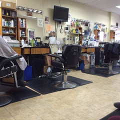 Photo taken at Bigga League Barber Shop by Bill B. on 1/12/2014