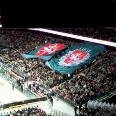Photo taken at Žalgirio Arena   Zalgiris Arena by Liudas J. on 11/30/2012