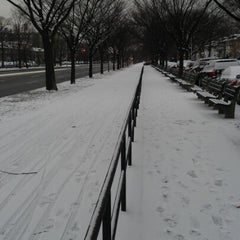 Photo taken at Benches On Ocean Parkway by Jason J. on 2/3/2013