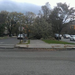 Photo taken at Benches On Ocean Parkway by Jason J. on 10/31/2012