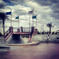 Photo taken at Santa Clarita Skate Park by Garret S. on 10/22/2012