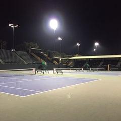 Photo taken at Taube Family Tennis Stadium by Katy Q. on 1/18/2015