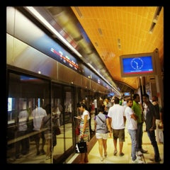 Photo taken at Burj Khalifa / Dubai Mall Metro Station محطة مترو برج خليفة / دبي مول by Abdullah A. A. on 11/14/2012