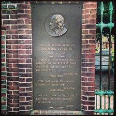 Photo taken at Benjamin Franklin's Grave by Brad L. on 4/13/2013