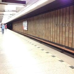 Photo taken at Metro =C= Nádraží Holešovice by Jan K. on 8/7/2012