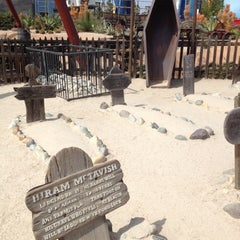 Photo taken at Knott's Berry Farm Boothill Cemetery by Eric L. on 3/12/2012