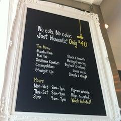Photo taken at Drybar by Kathy D. on 9/8/2012