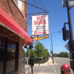 Photo taken at Hot Doug's by Tim T. on 6/6/2012