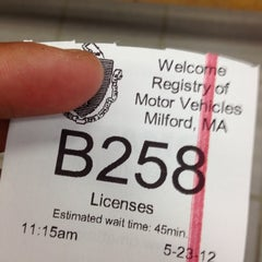 Photo taken at Registry of Motor Vehicles by Scott L. on 5/23/2012