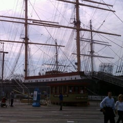 Photo taken at South Street Seaport by Kelly K. on 10/6/2012