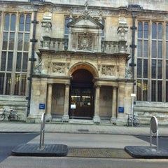Photo taken at Oxford University Examinations Schools by Adrion P. on 12/11/2012
