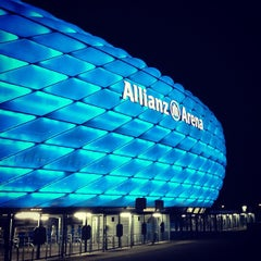 Photo taken at Allianz Arena by JooTong T. on 10/1/2012