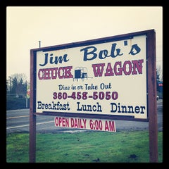 Photo taken at Jim Bob's Chuck Wagon by John B. on 12/9/2012