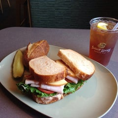 Photo taken at Saint Louis Bread Co. by Mike on 5/10/2014