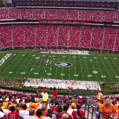 Photo taken at Sanford Stadium by Tina C. on 9/29/2012