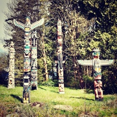 Photo taken at Totem Poles in Stanley Park by mitzanator on 4/16/2013