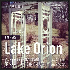 Photo taken at Lake Orion by Kelly K. on 4/1/2013