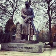 Photo taken at Pomnik Marszałka Piłsudskiego / Piłsudski Monument by Jaroslaw M. on 3/1/2013