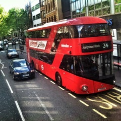 Photo taken at Chelsea Old Town Hall Bus Stop by Jaroslaw M. on 5/8/2014