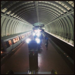 Photo taken at Friendship Heights Metro Station by Hank S. on 1/21/2013