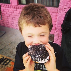 Photo taken at Voodoo Doughnut Too by Jenny C. on 6/21/2013