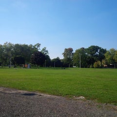 Photo taken at Tecumseh Park by Kevan D. on 9/29/2014
