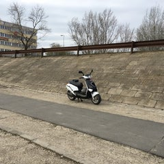 Photo taken at Dunaparty Megálló by Lamprecht A. on 3/19/2016