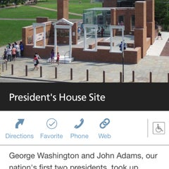 Photo taken at The President's House Site by Eric H. on 4/4/2015