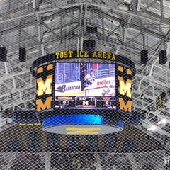 Photo taken at Yost Ice Arena by Eric W. on 1/9/2013