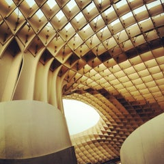 Photo taken at Metropol Parasol by Pako C. on 11/8/2012