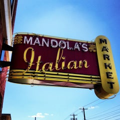 Photo taken at Mandola's Italian Market by Patrizio K. on 7/10/2013