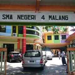 Photo taken at SMA Negeri 4 Malang by Sho M. on 9/8/2015