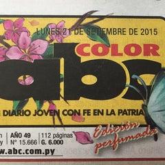 Photo taken at Diario ABC Color by María Silvia D. on 9/21/2015
