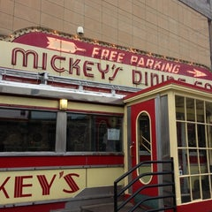 Photo taken at Mickey's Diner by Christy F. on 11/3/2012