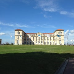 Photo taken at Palais du Pharo by Irina K. on 3/10/2013