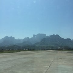 Photo taken at Zhangjiajie Hehua Airport (DYG) 张家界荷花机场 by Christina L. on 4/14/2015