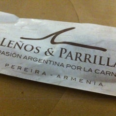 Photo taken at Leños & Parrilla by Mil e Uma V. on 10/23/2012
